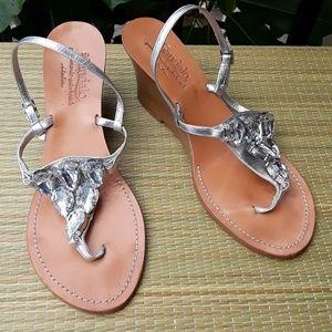 IlSandalo Crystal Wedge Sandals size 8